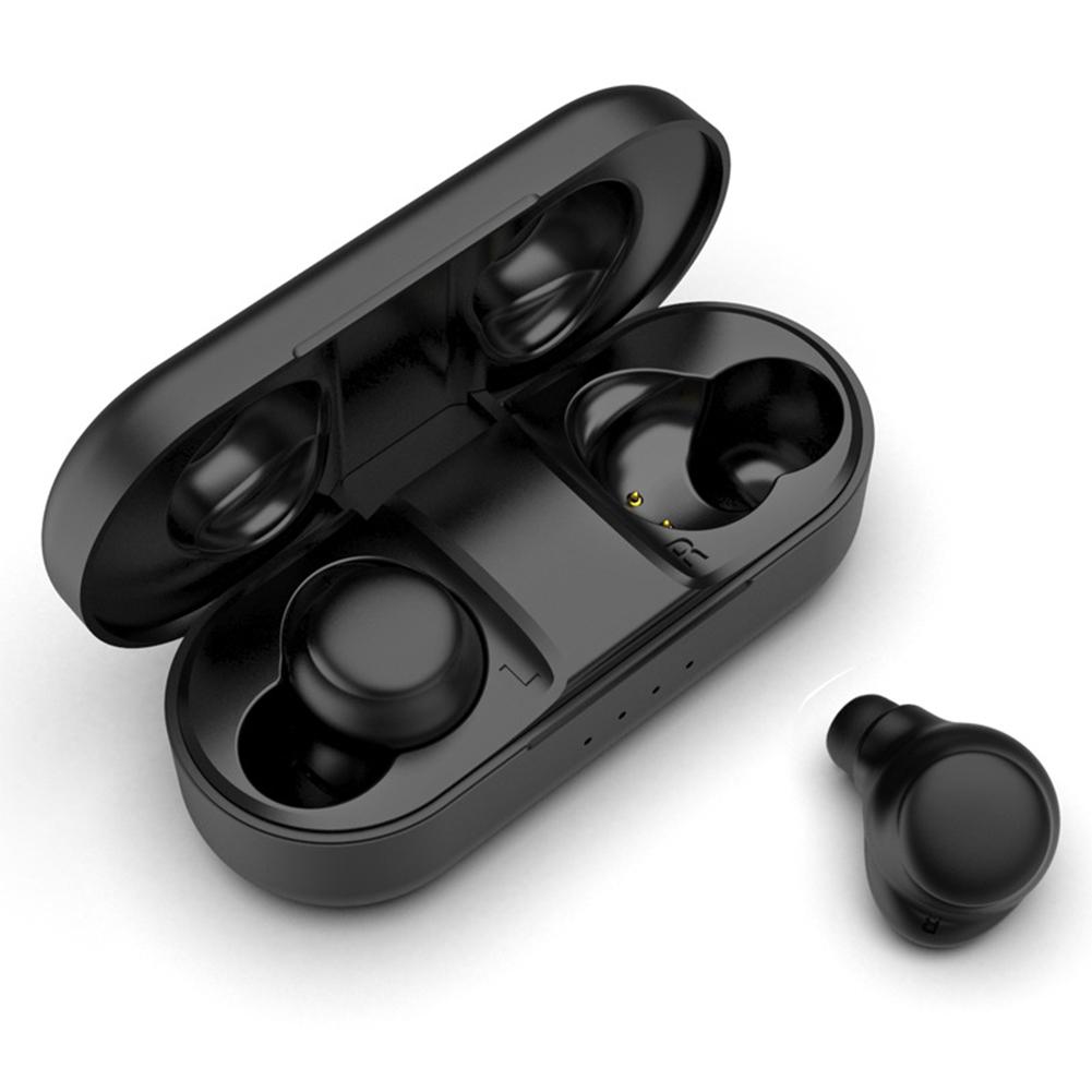 A5 TWS Two Ears Wairless Bluetooth Earphones 5.0 Touch Control Earphone black