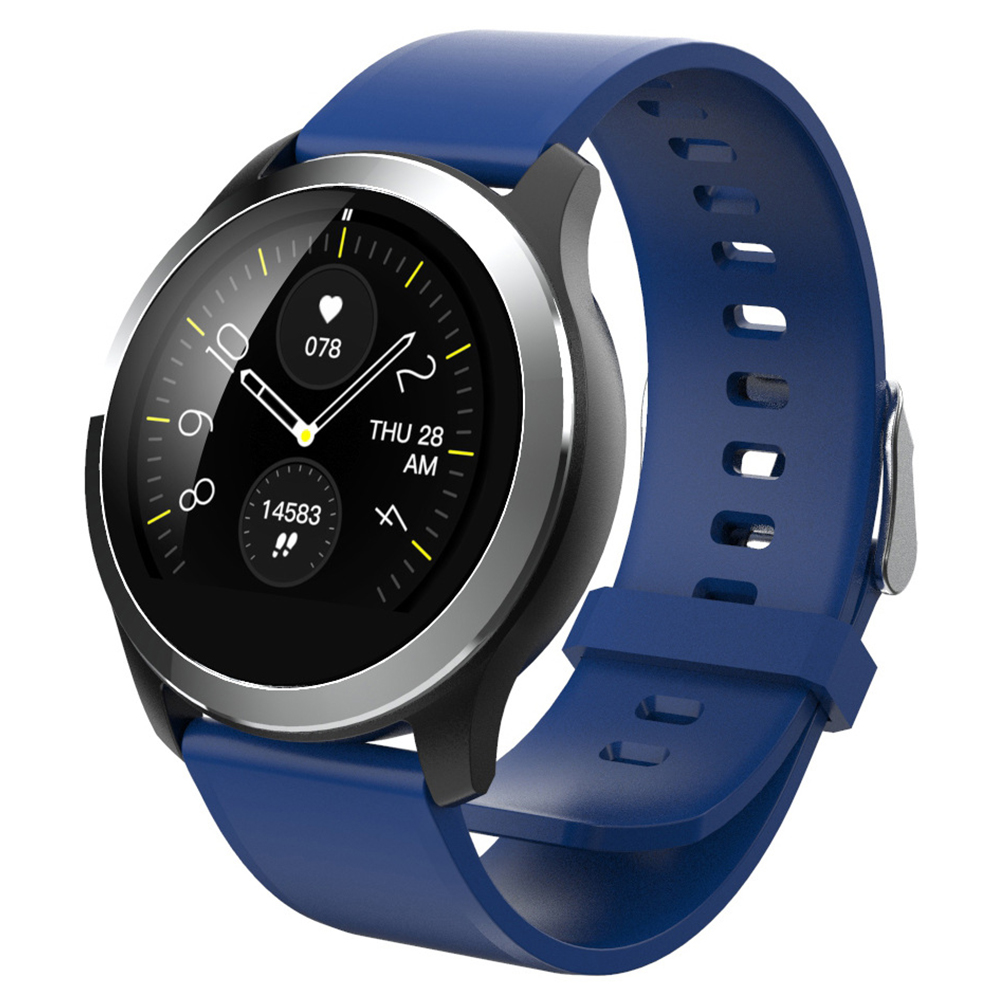 Original LEMFO Z03 Smart Watch Color Screen ECG+PPG Heart Rate Blood Pressure Sport Smartwatch Blue silicone band