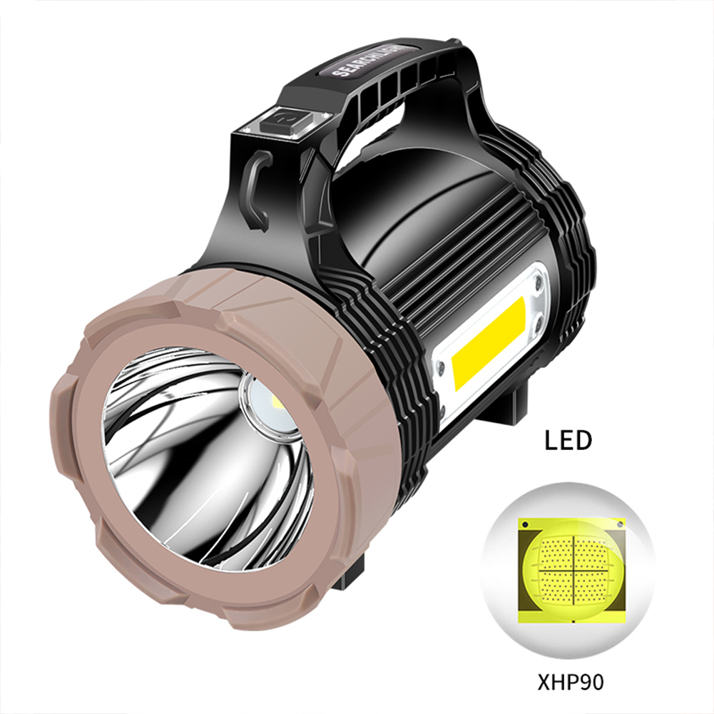 Xhp90 Led Handheld Flashlights Rechargeable Led Flashlight High Power Outdoors Lamp Portable Searchlight 889e