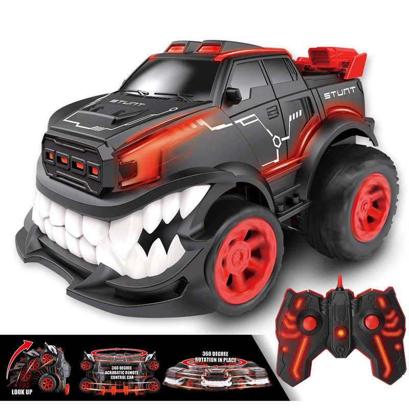 GW127 Remote Control Car Stunt Inverted and 360 Rotation Cars Toys for Kids 2.4G Flash Lights Birthday Present Christmas Gifts RC Car red