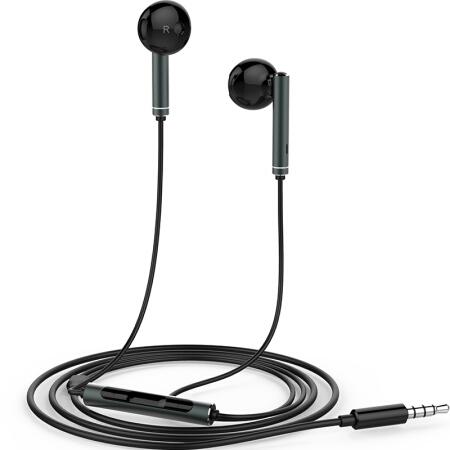 For HUAWEI P7 P8 P9 Lite P10 Plus Honor 5X 6X Mate 7 8 9 Huawei Honor AM116 Earphone Metal With Mic Volume Control  black