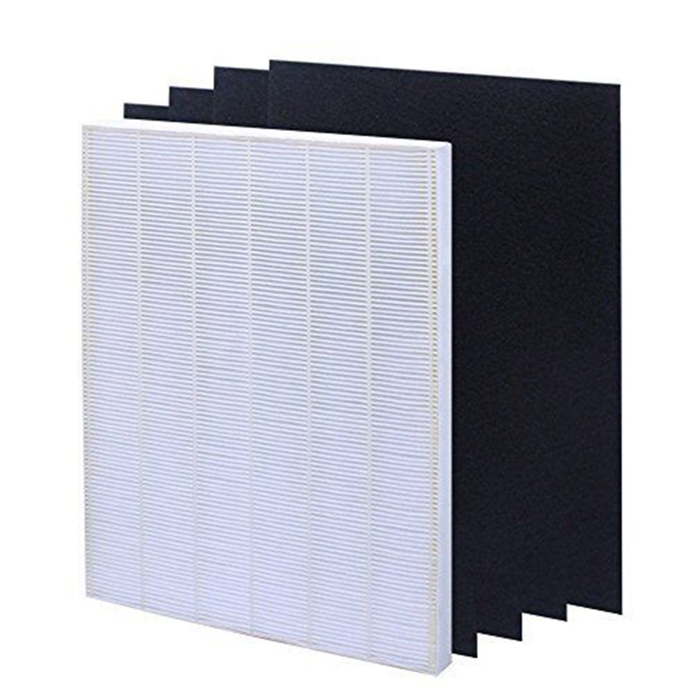 Air Filter Element Set for HEPA Air Filter Screen+ 4 Replacement Activated Carbon Filters Winix 115115  white