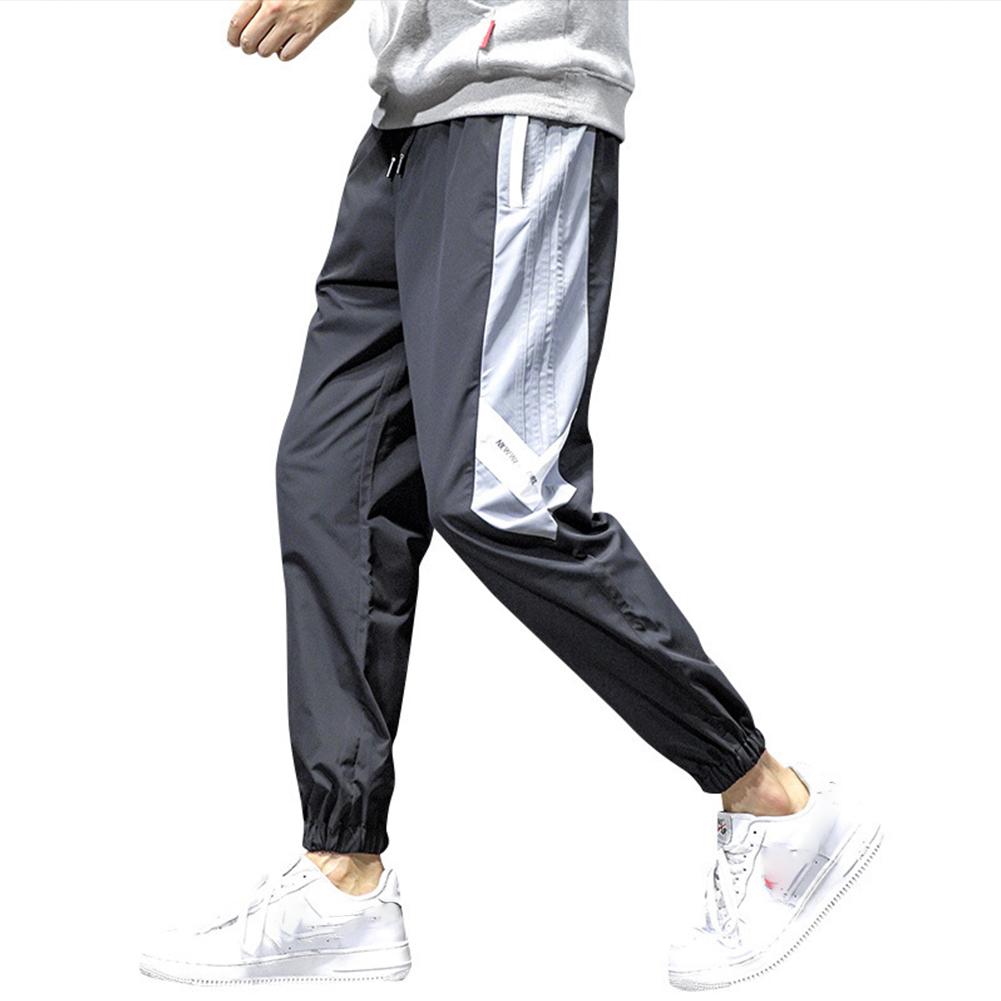 Men's Pants Tooling Harem All-match Leggings Plus Size Sports Pants black_L
