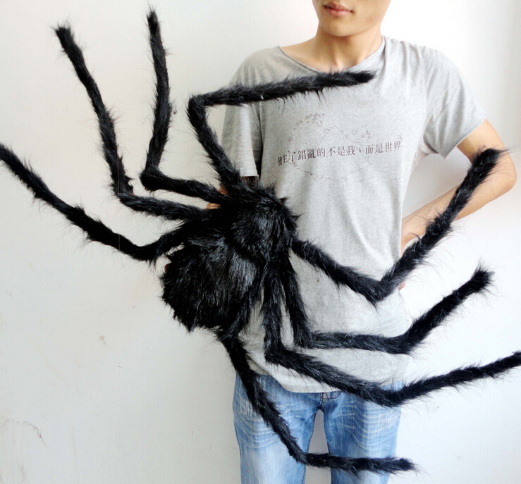 Bar Party Festival Decoration  2m Black Spider for Halloween
