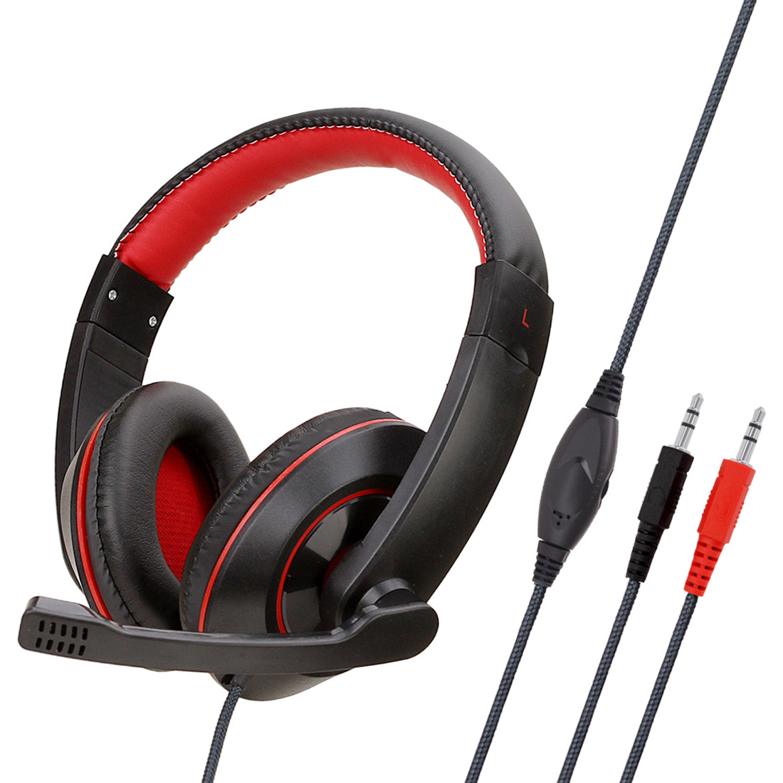 Anti-violence Computer Headset Portable Stereo Volume Control Headphone for PC Laptop with Mic SY722MV black PC does not shine headphones with packaging