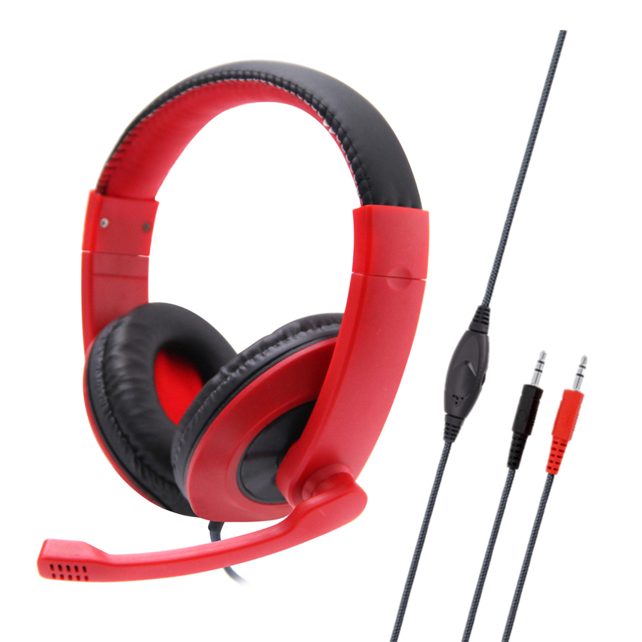 Anti-violence Computer Headset Portable Stereo Volume Control Headphone for PC Laptop with Mic SY722MV red PC does not shine with packaging
