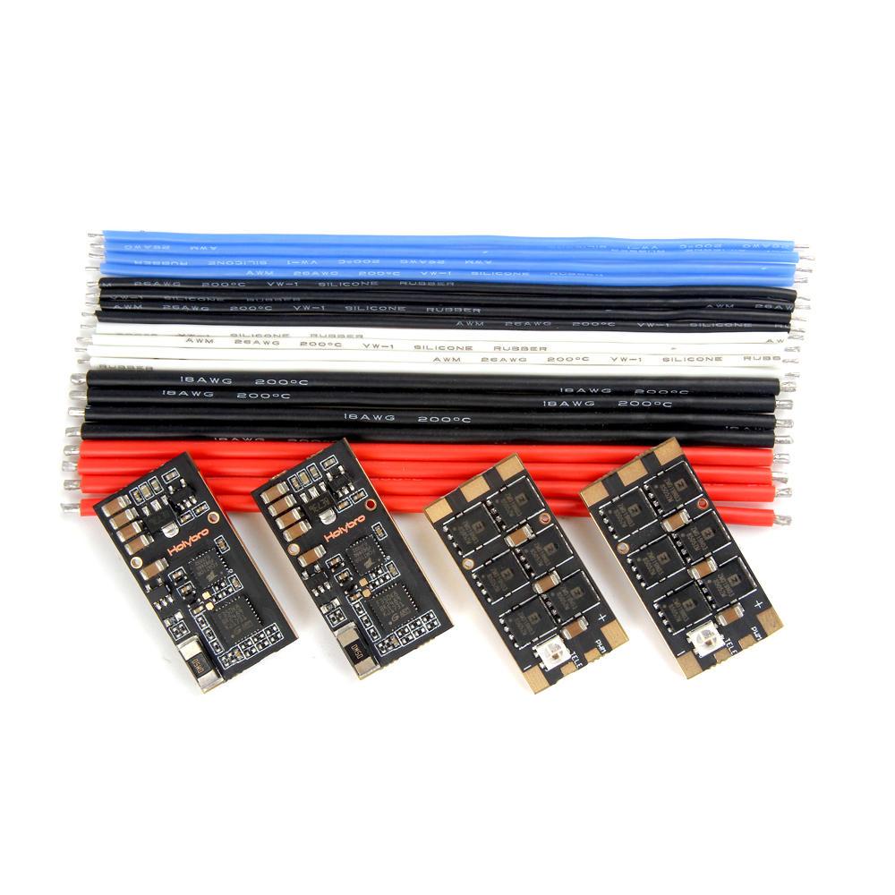 4 PCS Holybro Tekko32 F3 35A ESC BLHeli_32 3-6S F3 MCU Dshot1200 Build In Current Sensor WS2812B LED KSX3204