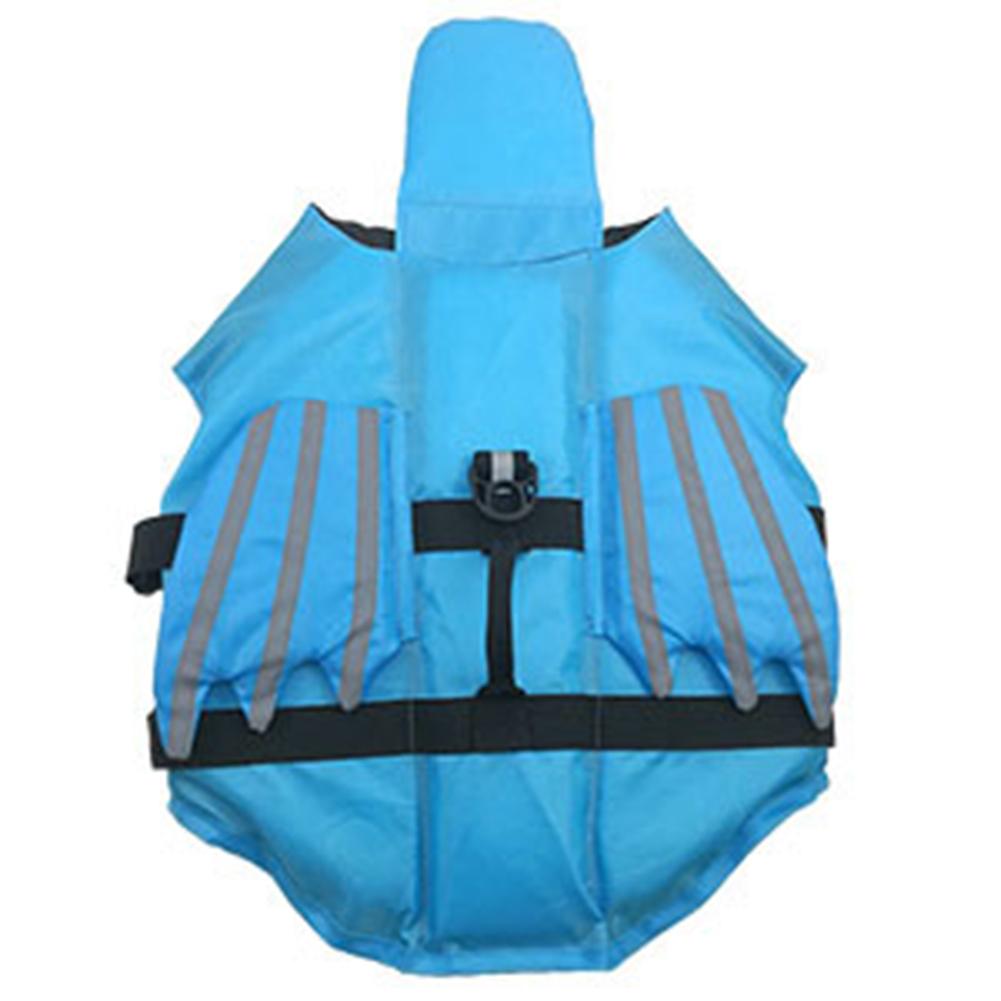Reflective Pet Life  Jacket Angel Wings Shaped Dog Life Vest Pet Outdoor Swimwear Blue_L