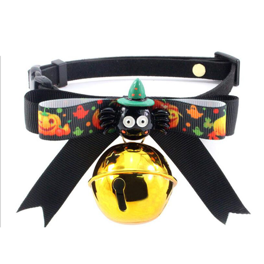 Cute Halloween Series Pet Bowknot Bell Collar for Cats Dogs Wear GBD-E028-1_S