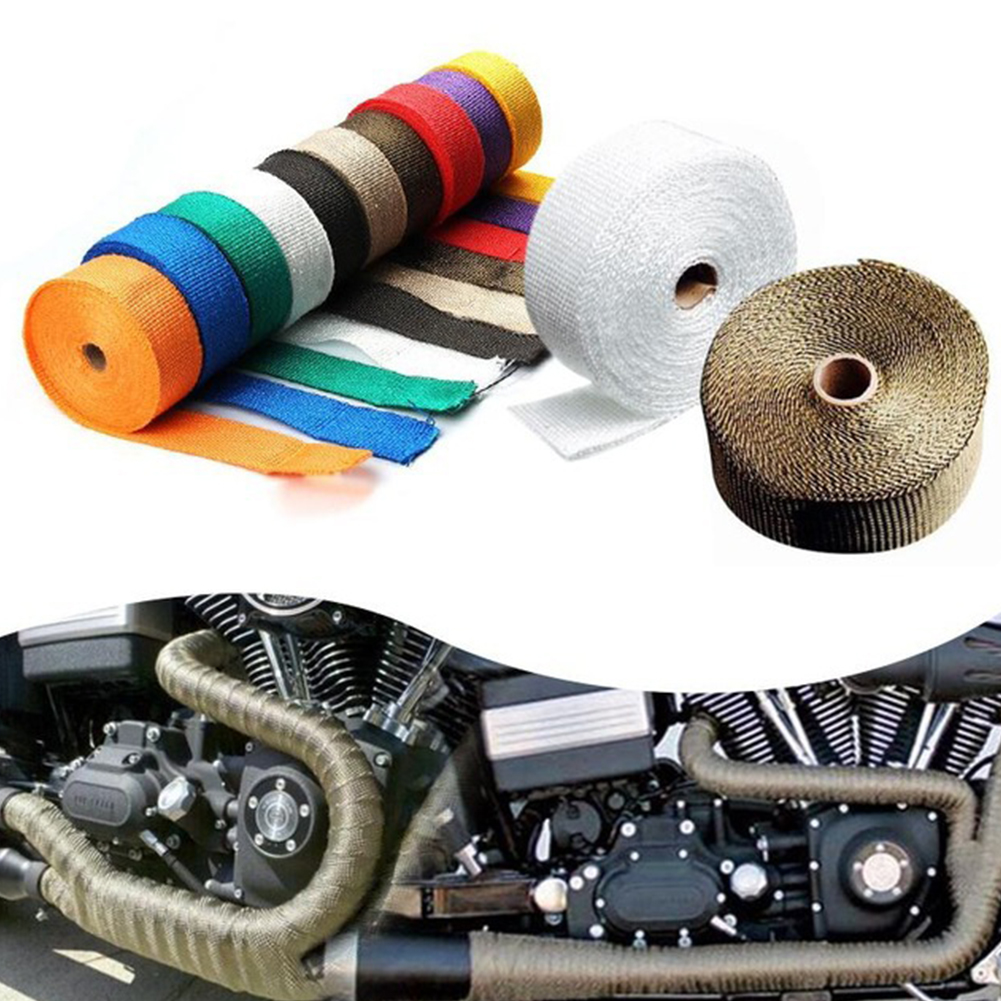 Car Modification Insulation Belt Motorcycle Exhaust Pipe Insulation Cotton Heat Resisting Cloth black