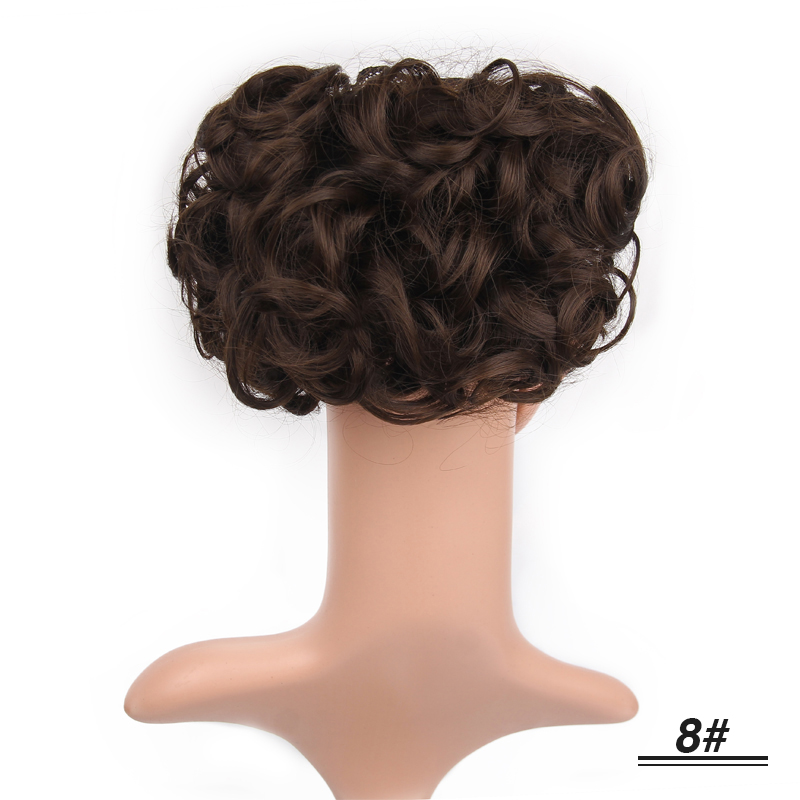 Elegant Beauty Hair Bun Chignon Two Plastic Comb Wave Curly Synthetic Hair Easy Use