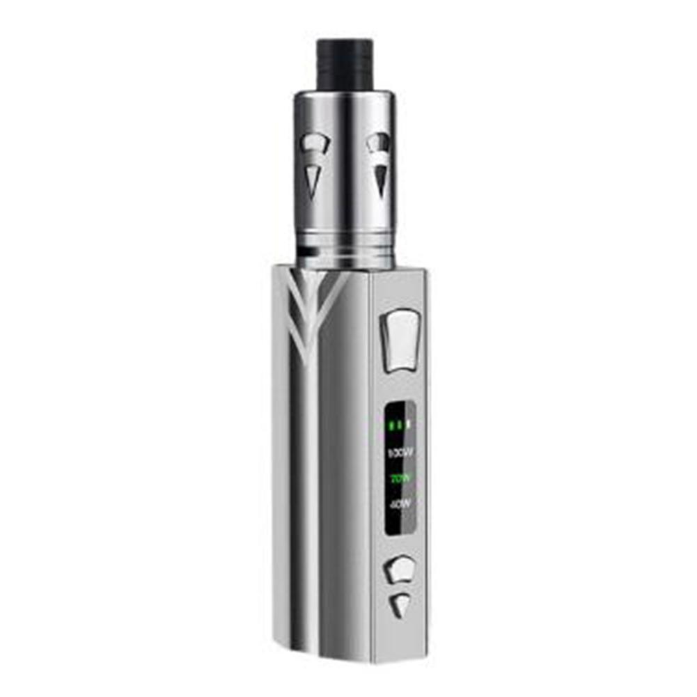 Electronic Cigarette 3-speed Adjustable 100W Large Smoke Metal Body E-cigarette set Snowflake silver