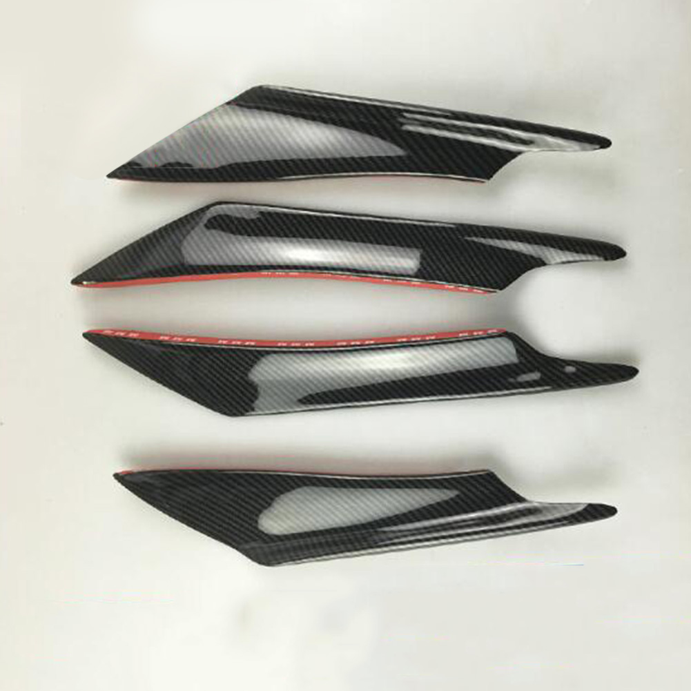 4Pcs Car Front Bumper Canard Splitter Fin Spoiler Carbon Fiber Universal Modified Decoration  Carbon fiber