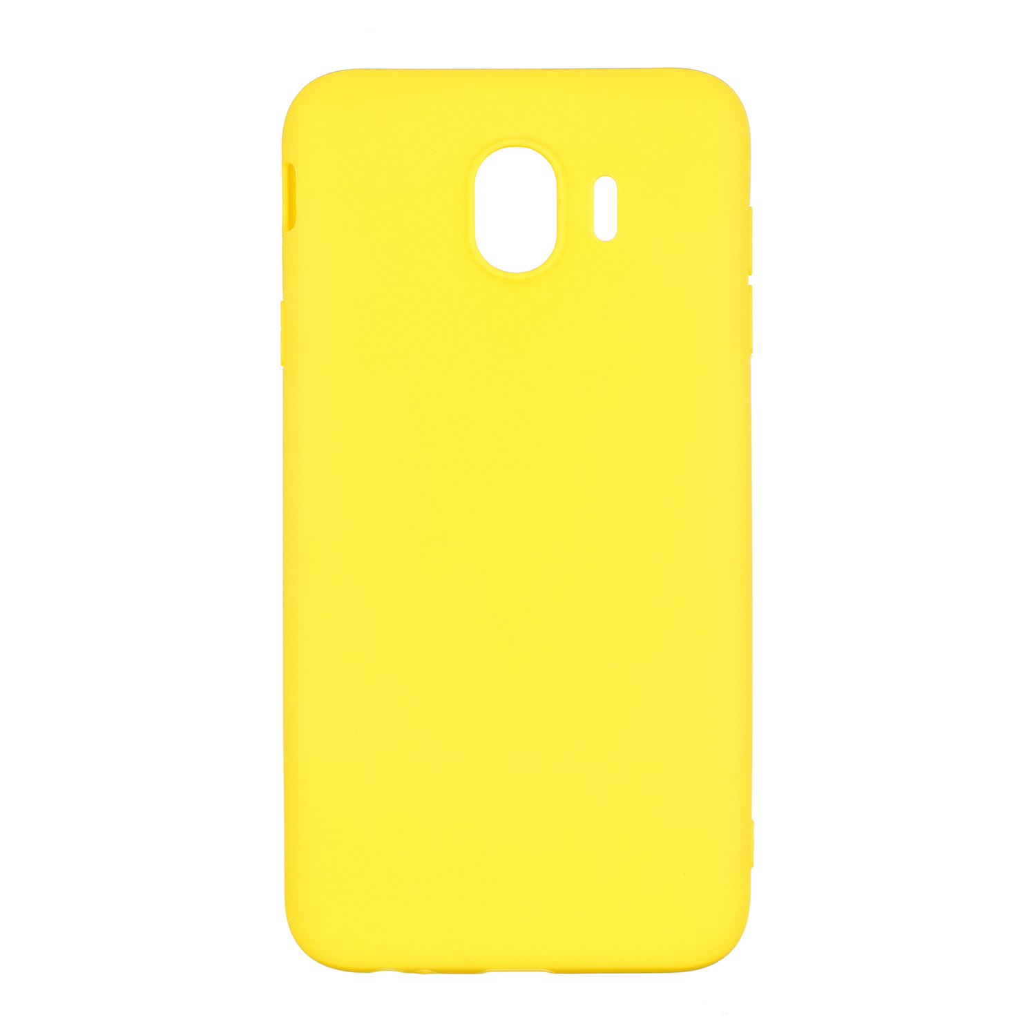 for Samsung J4 Euro Edition Lovely Candy Color Matte TPU Anti-scratch Non-slip Protective Cover Back Case yellow