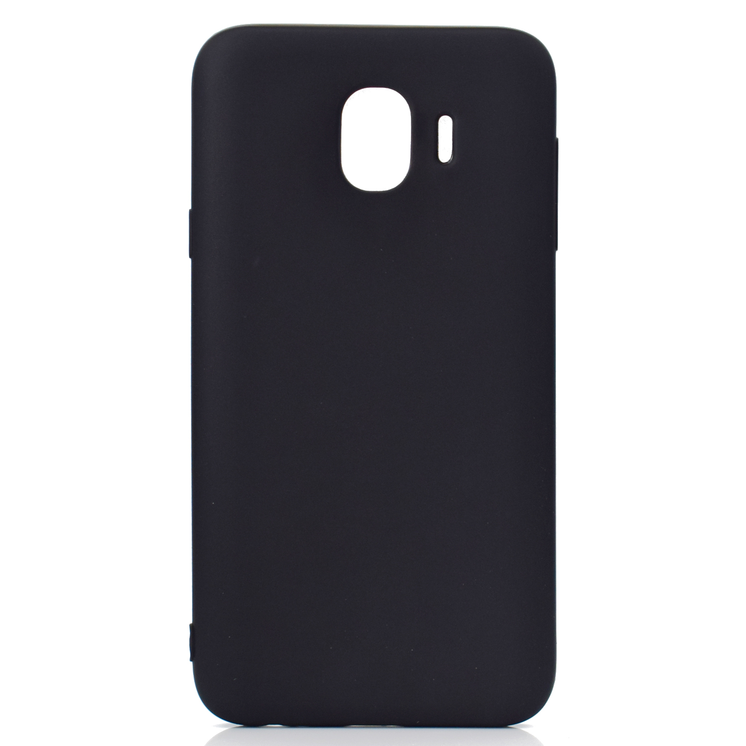 for Samsung J4 Euro Edition Lovely Candy Color Matte TPU Anti-scratch Non-slip Protective Cover Back Case black