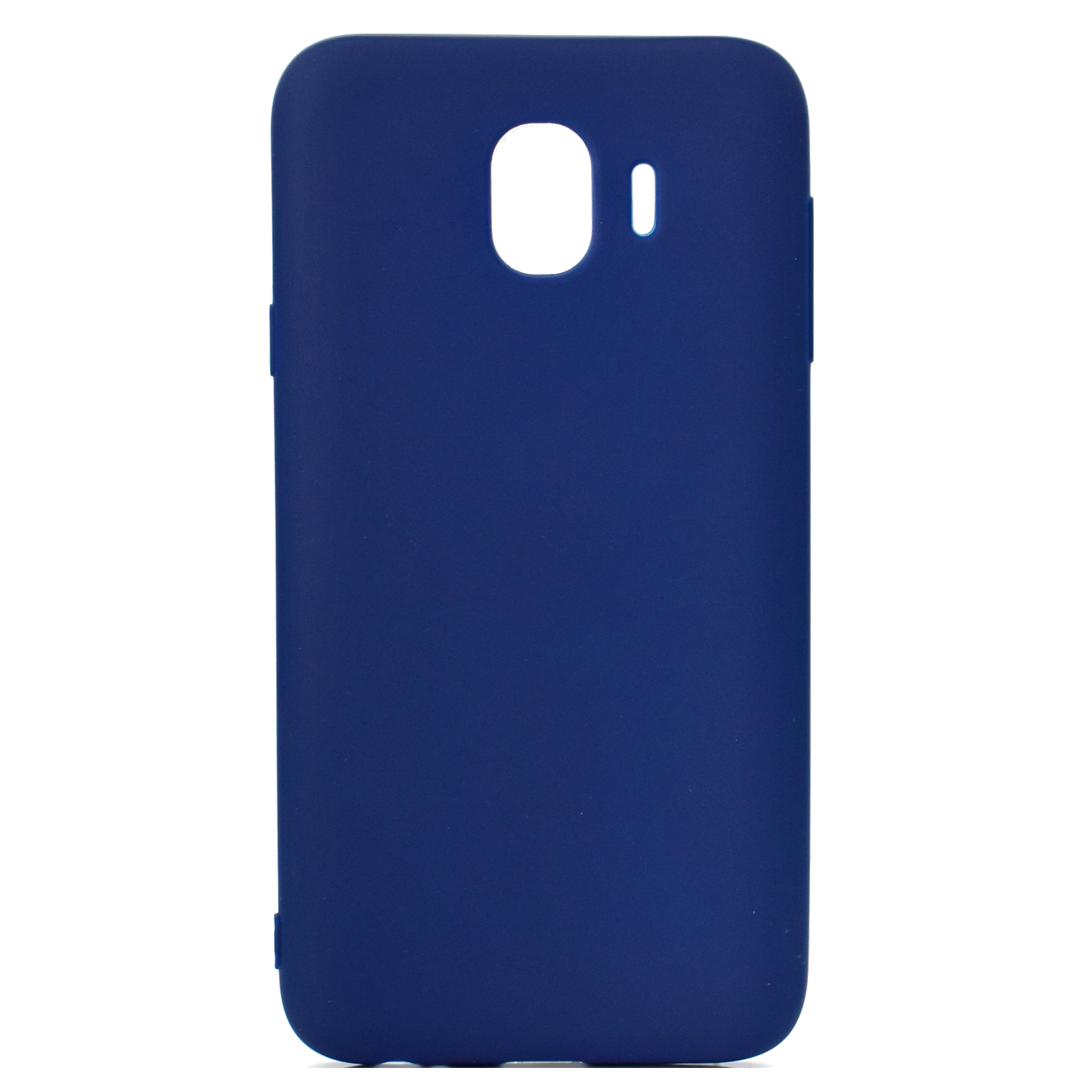 for Samsung J4 Euro Edition Lovely Candy Color Matte TPU Anti-scratch Non-slip Protective Cover Back Case Navy