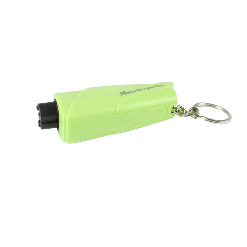 3-in-1 Car Emergency Tools Set Emergency Keychain Car Escape Tool Seatbelt Cutter And Window Breaker Green