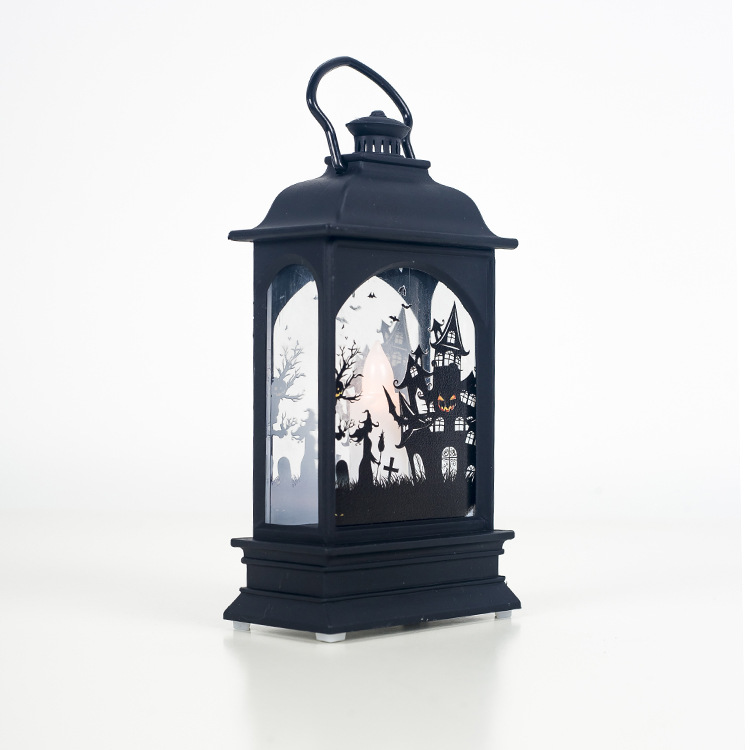 Candle Lamp Transparent Halloween Lantern Decoration for Home Bar Prop
