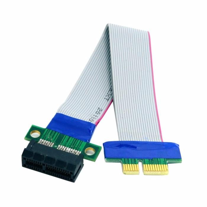 PCI Expres x1 PCI E Riser Card Extender Extension Ribbon Flex Relocate Cable PCI-E