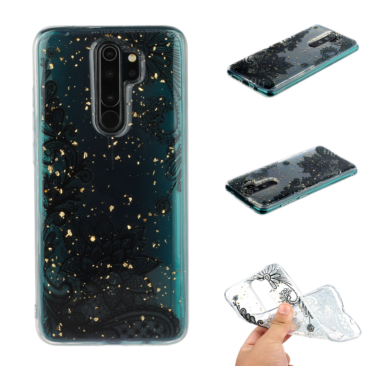 For Redmi Note 8 / Redmi Note 8 Pro Cellphone Cover Beautiful Painted Pattern Comfortable Wear TPU Phone Shell 1