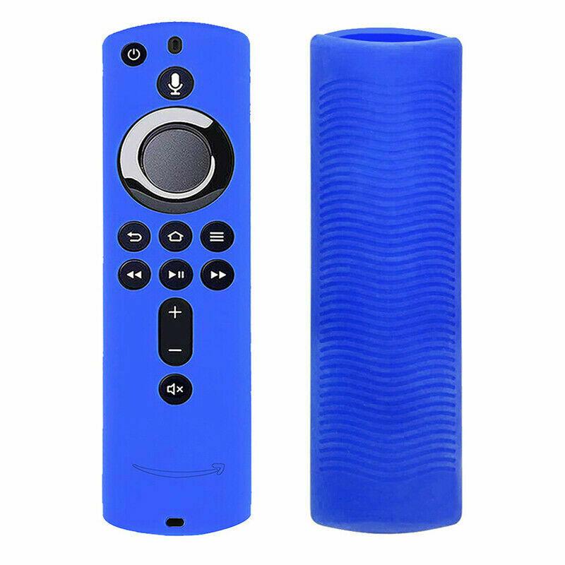 Soft Silicone Rubber Case Cover Skin Shell for Amazon Fire TV Stick Remote blue