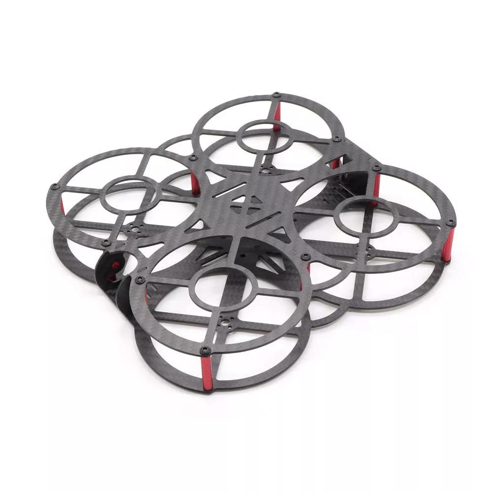HSKRC Mini X135 135mm 3 Inch/ X200 200mm 5 Inch Carbon Fiber FPV Racing Frame Kit for RC Drone X135 135mm KSX3713