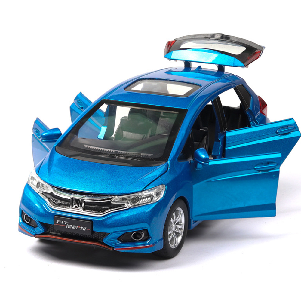 High Simitation 1:32 Alloy Metal Car Model Children Toys with Pull-back Function for Kids Birthday Gifts  blue