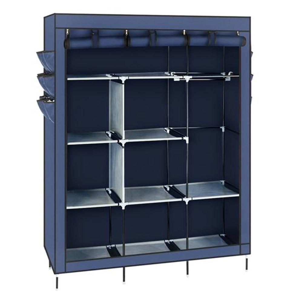 [US Direct] Wardrobe Storage Closet Clothes Portable Wardrobe 69