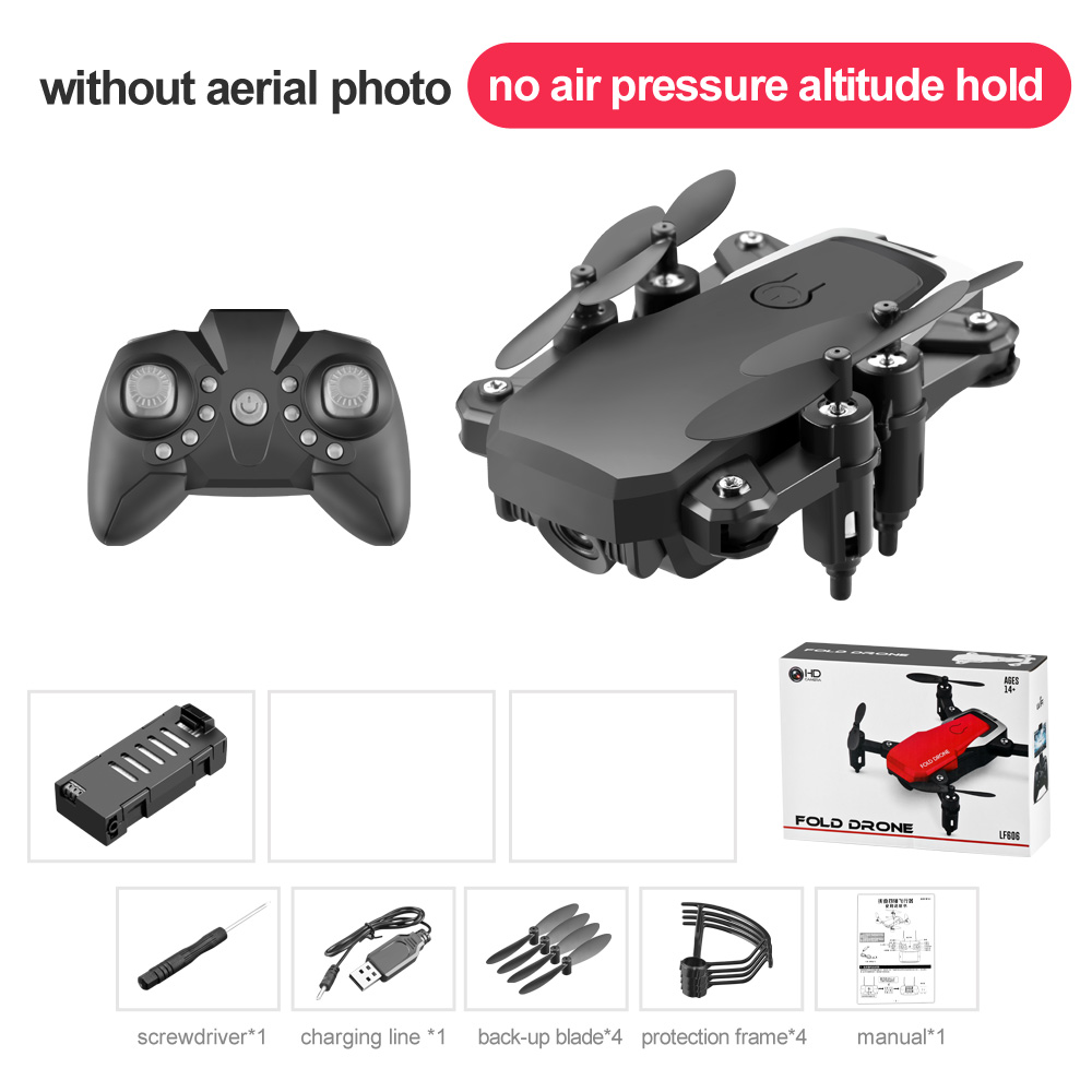 LF606 Mini Drone with Camera Altitude Hold RC Drones with Camera HD Wifi FPV Quadcopter Drone RC Helicopter Standard without camera