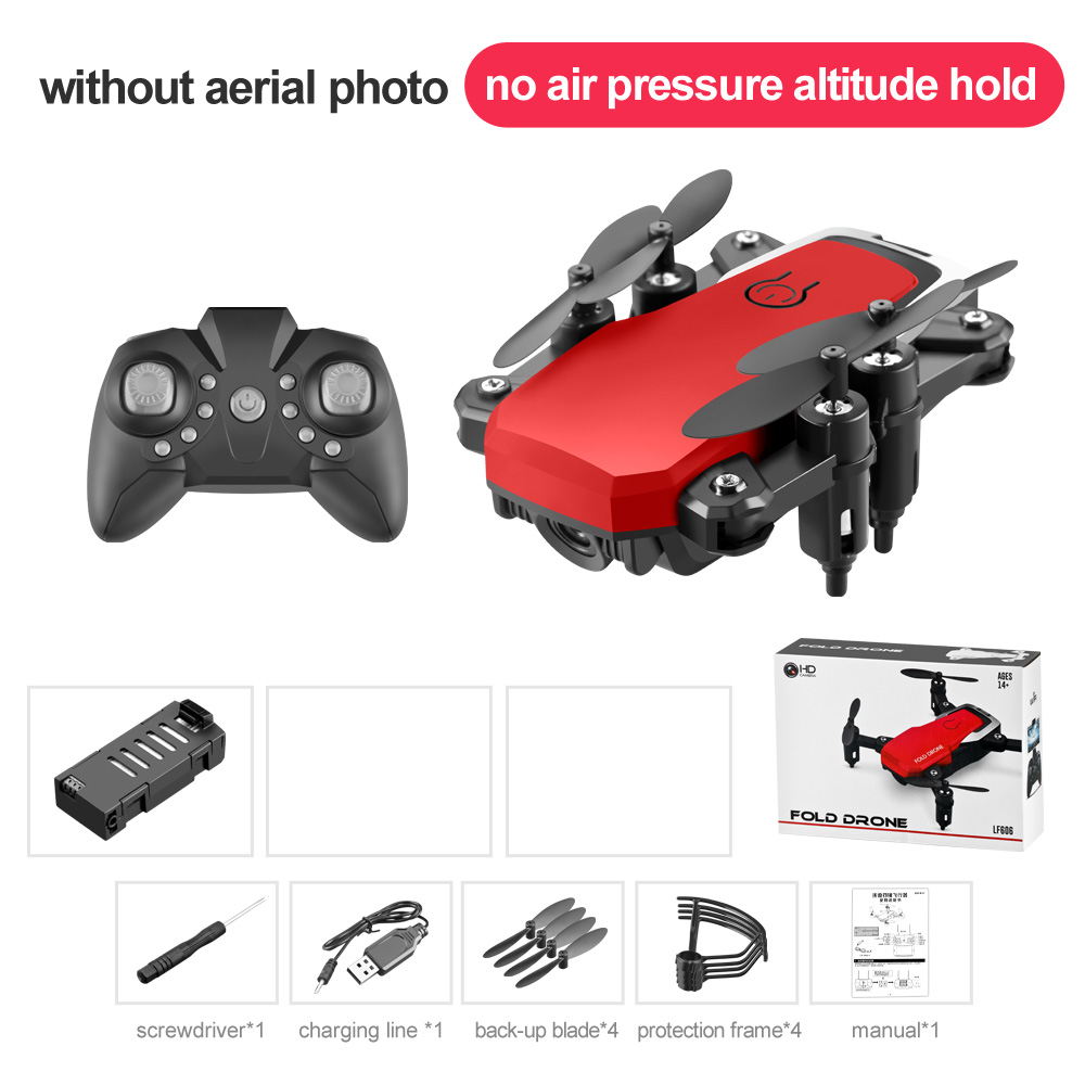 LF606 Mini Drone with Camera Altitude Hold RC Drones with Camera HD Wifi FPV Quadcopter Dron RC Helicopter Standard without camera