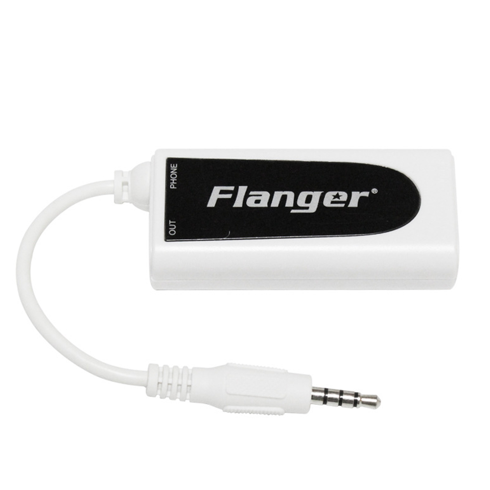 Flanger FC-21 Software Guitar Bass Effect Converter Adapter for Cell Phone iPhone iPad and Android Phone white_FC-21
