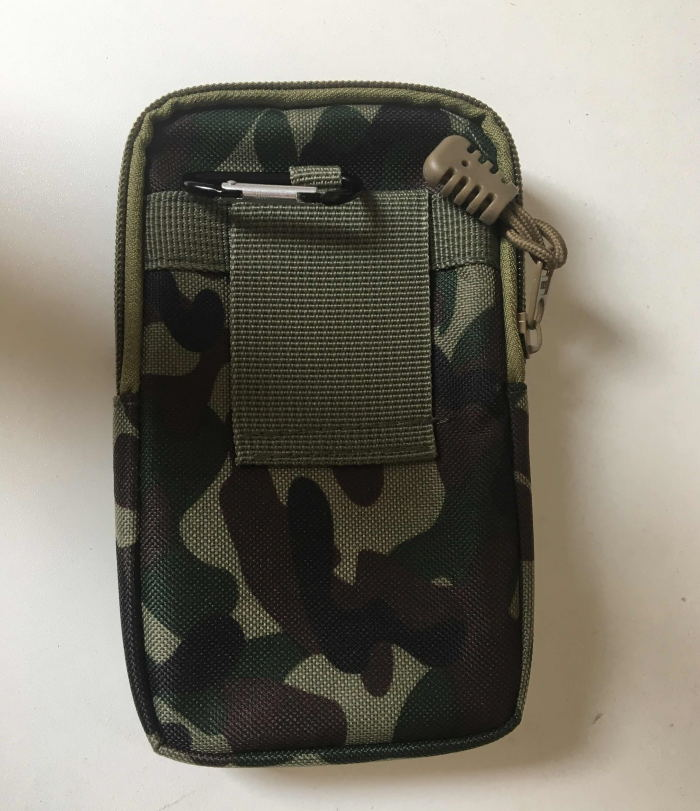 Army Fan Sports Waist Belt Bag Wallet Cell Phone Pouch Case Pocket green