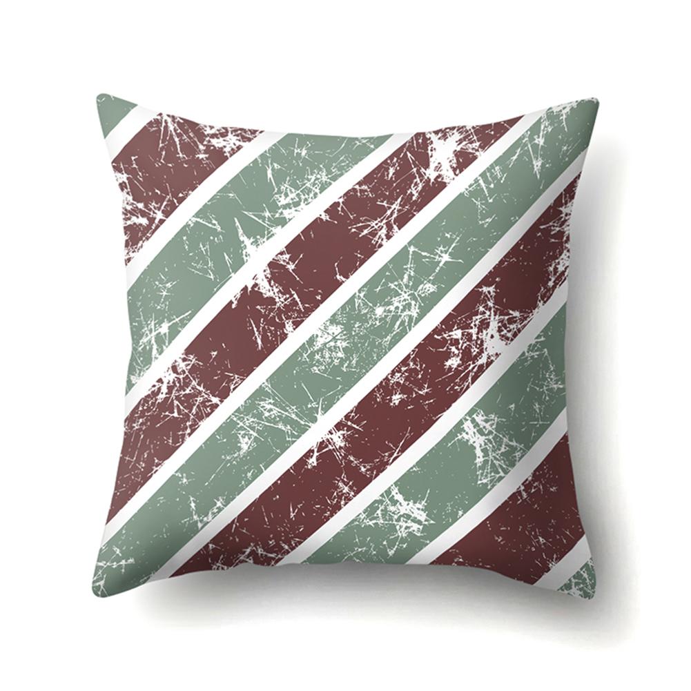 Square Stripe Dot Pillowcase Cushion Throw Pillow Cover Printed Living Room Sofa Pillow Case 45*45cm CCA420(12)