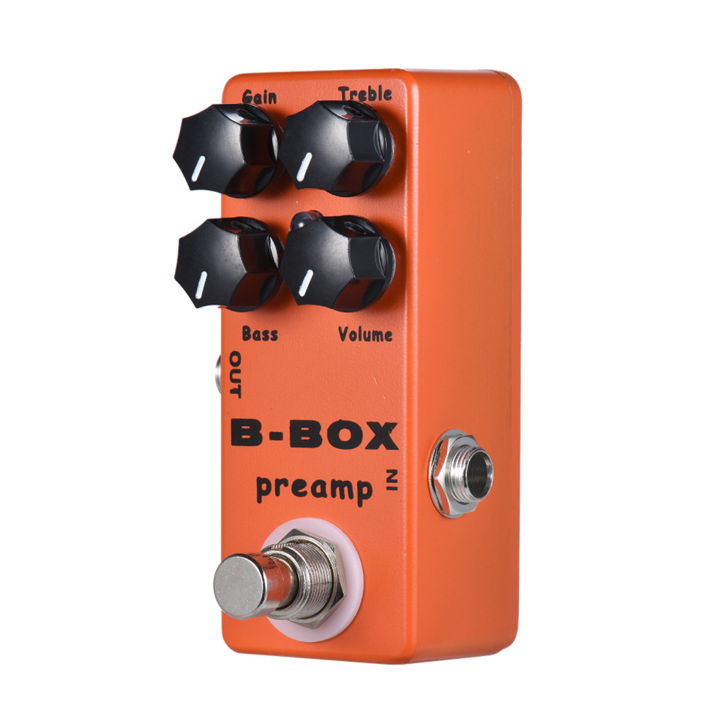 MOSKY B-Box Electric Guitar Preamp Overdrive Guitar Effect Pedal with Analog Signal Path True Bypass Orange