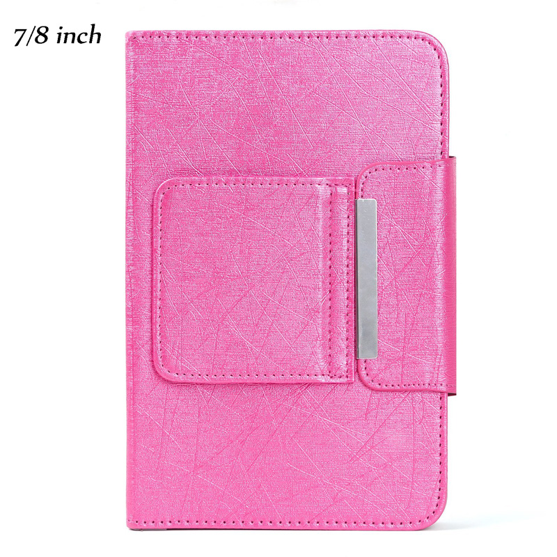 Wireless Bluetooth Keyboard For Tablet PU Leather Case Stand Cover +OTG+pen For Pad 7 8 Inch 9 10 Inch  Pink_7/8 inch