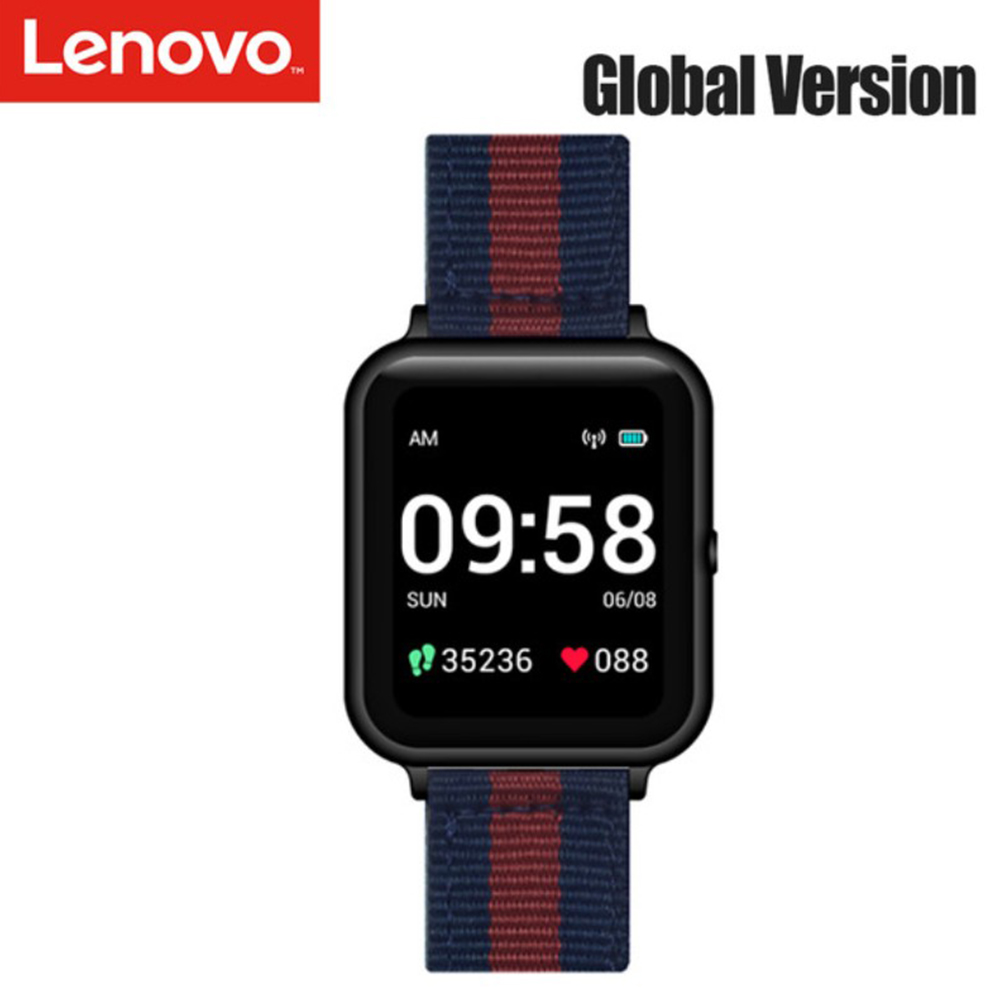 Original LENOVO S2 Smart Watch 1.4-inch Fitness Tracker Calorie Pedometer Sleep Heart Rate Monitor Smartwatch black