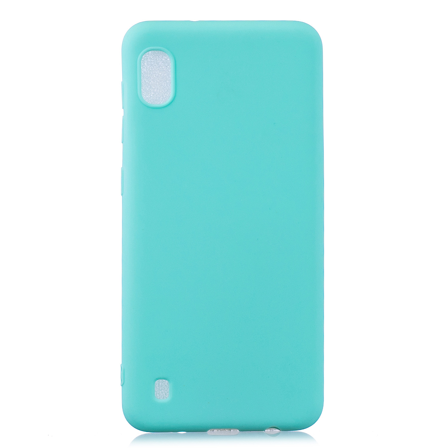 For Samsung A10 Lovely Candy Color Matte TPU Anti-scratch Non-slip Protective Cover Back Case Light blue