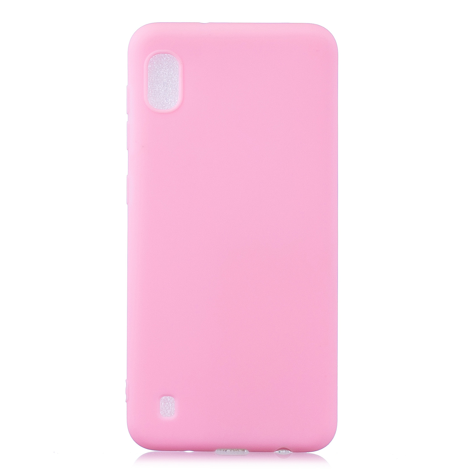 For Samsung A10 Lovely Candy Color Matte TPU Anti-scratch Non-slip Protective Cover Back Case dark pink