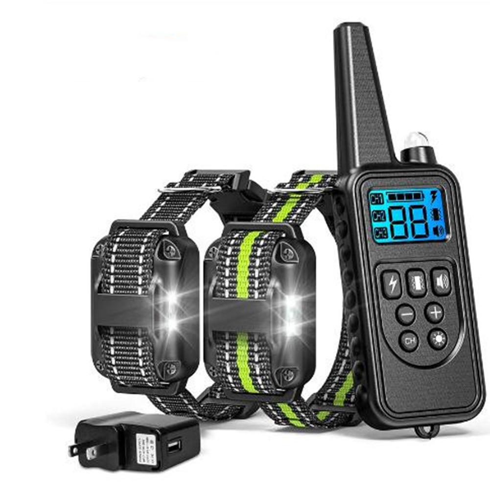 Dog Training Collar Anti Barking Device Remote Control Pet Training Supplies  880-2