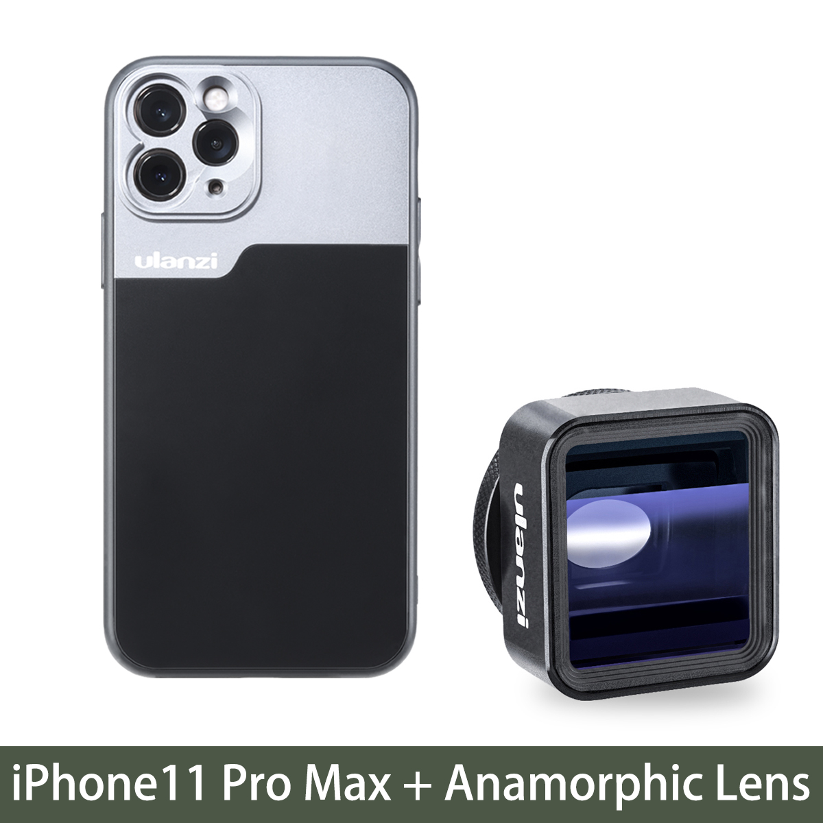 17mm Thread Phone Case for iPhone 11/11 Pro/11 Pro Max Anamorphic Lens Protect Smartphone Shakeproof Solid Cover For iPhone 11 Pro Max case+Anamorphic Lens
