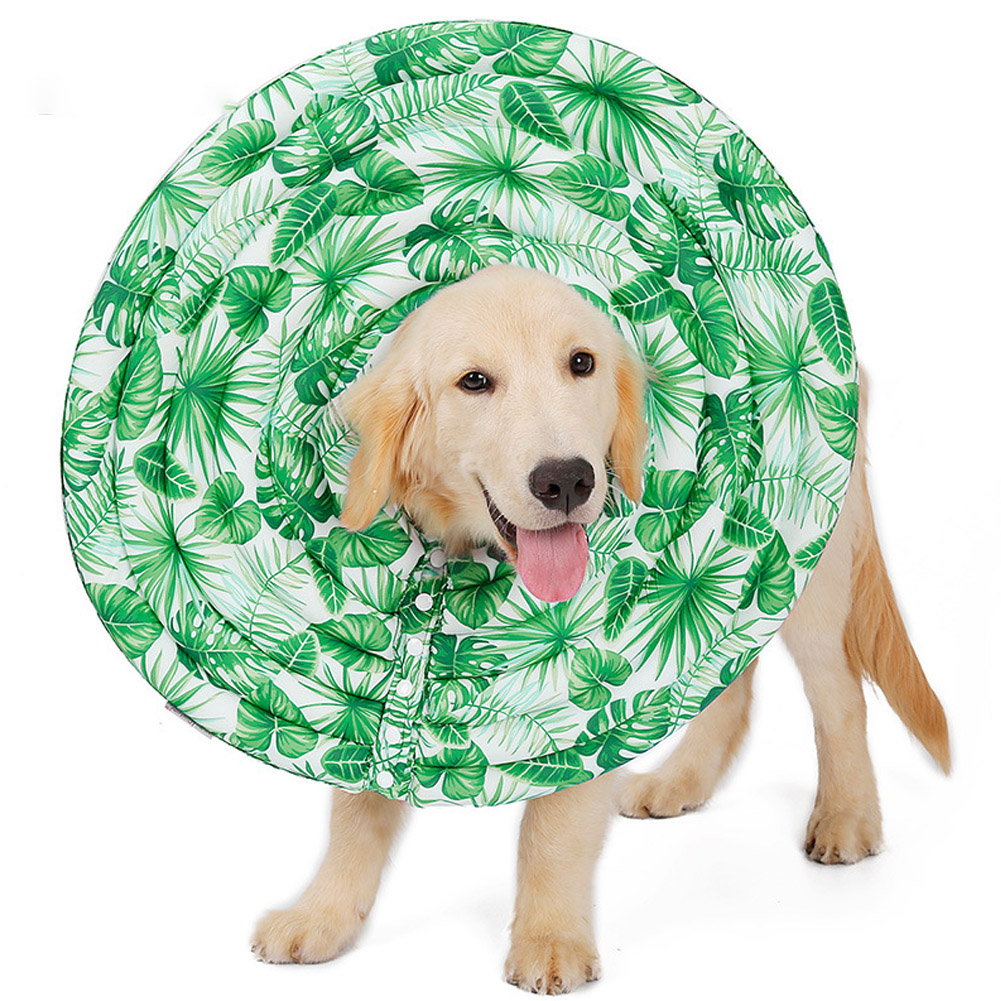 Wound Healing Collar Dogs Cats Medical Protection Neck Ring green_XL