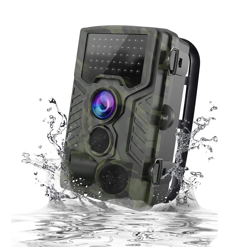 1080P HD Wildlife Trail Hunting Camera with Motion Activated Night Vision 120° Wide Angle Lens IP65 Waterproof Wildlife Scouting Camera  Army Green