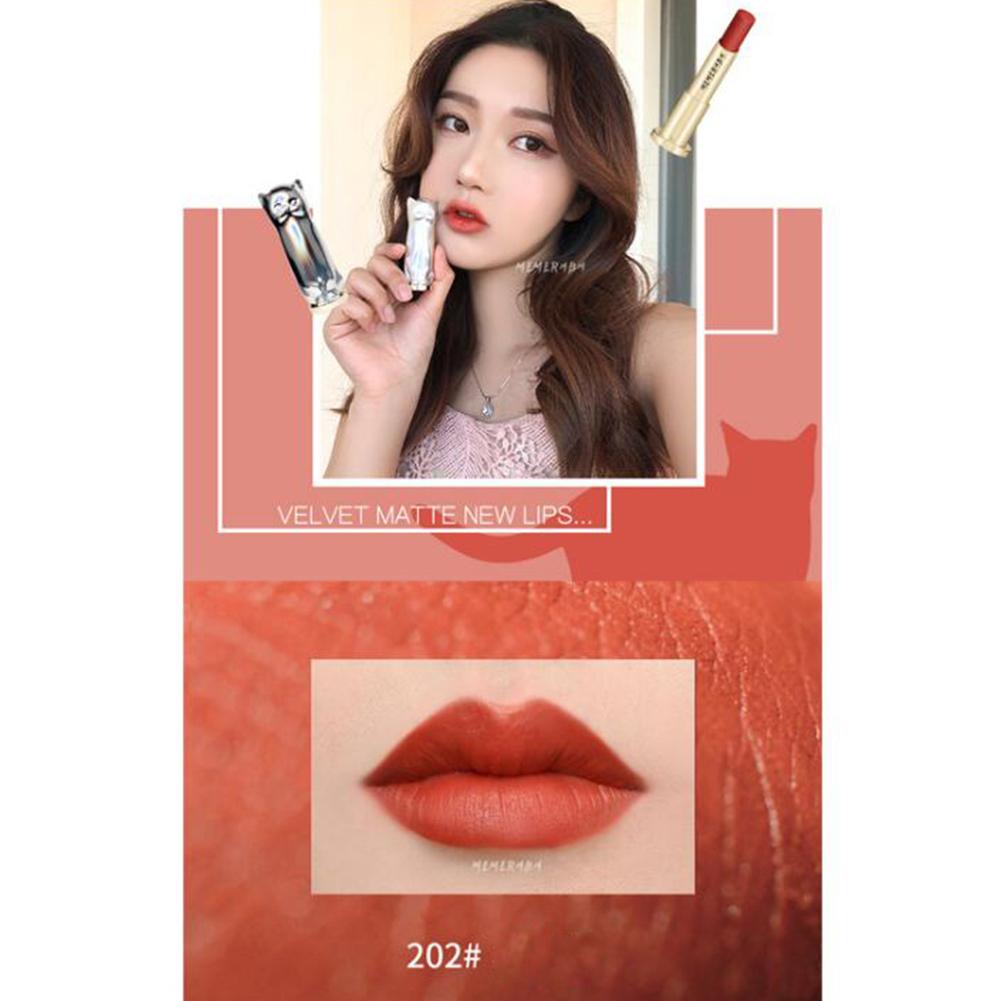 Cute Cat Shaped Matte Lipstick Long Lasting Lipsticks Velvet Waterproof Lipstick  normal_2#