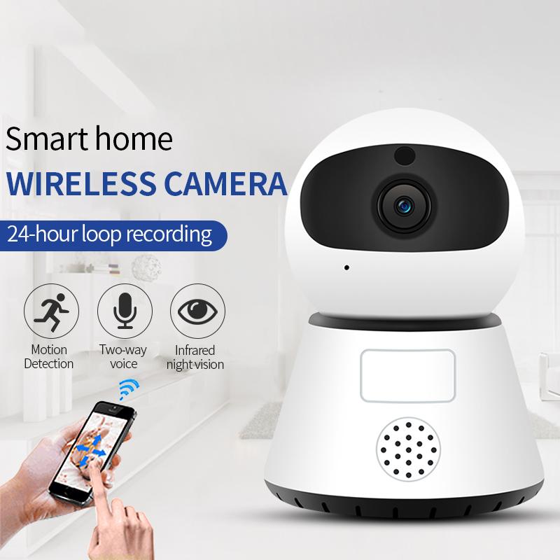 Surveillance Camera Wireless WIFI HD Night Vision Smart Small Monitor Mobile Phone Remote Network Home Monitoring 2#_US Plug
