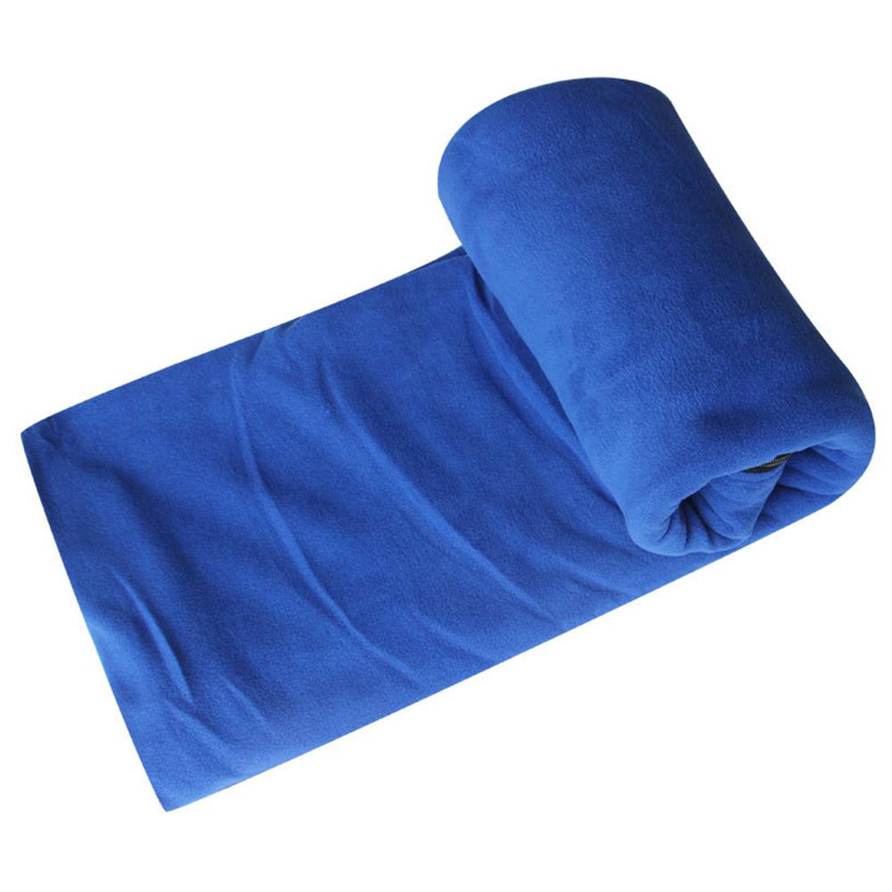 Portable Ultra-light Polar Fleece Sleeping Bag Outdoor Camping Tent Bed Travel Warm Sleeping Bag Liner Royal blue_185*80