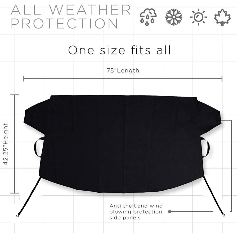 Car Windshield cover Wiper Protector Auto Sunshade for Car Waterproof Windshield Frost Cover Small 190*107