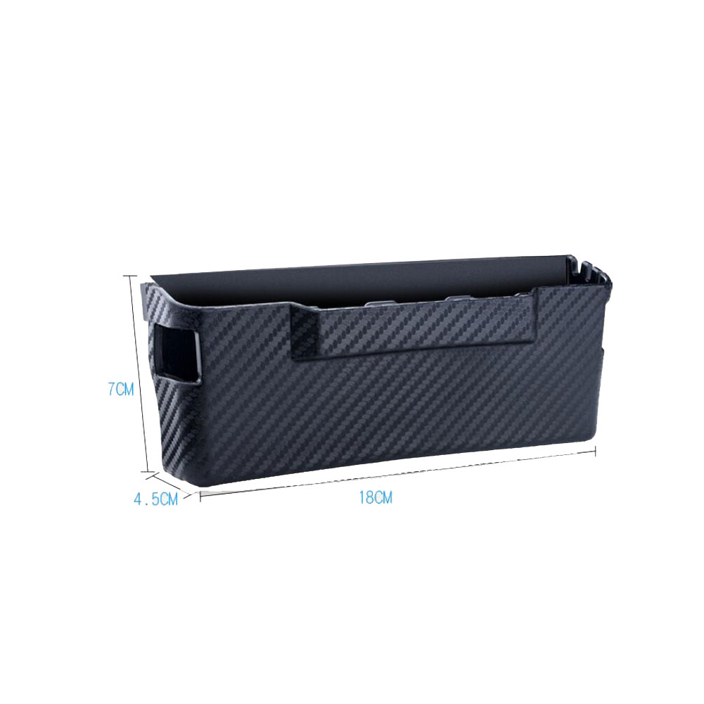 Car Storage Box Carbon Fiber Lines Stowing Tidying Multi-function car Organizer Storage Boxes Bag Container Phone Holder large