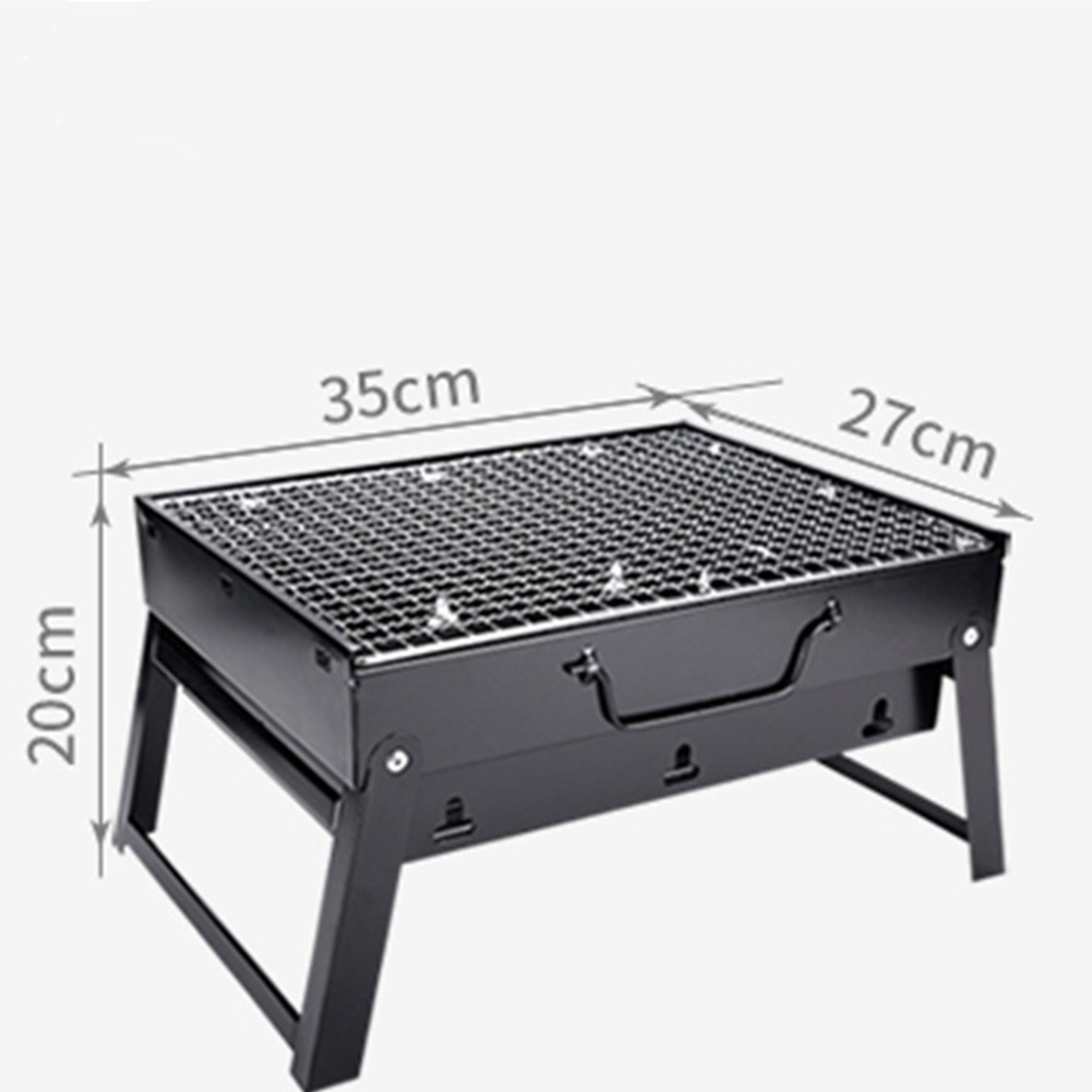 Foldable BBQ Grills Patio Barbecue Charcoal Grill Stove Stainless Steel Outdoor Camping Picnic Accessories As shown