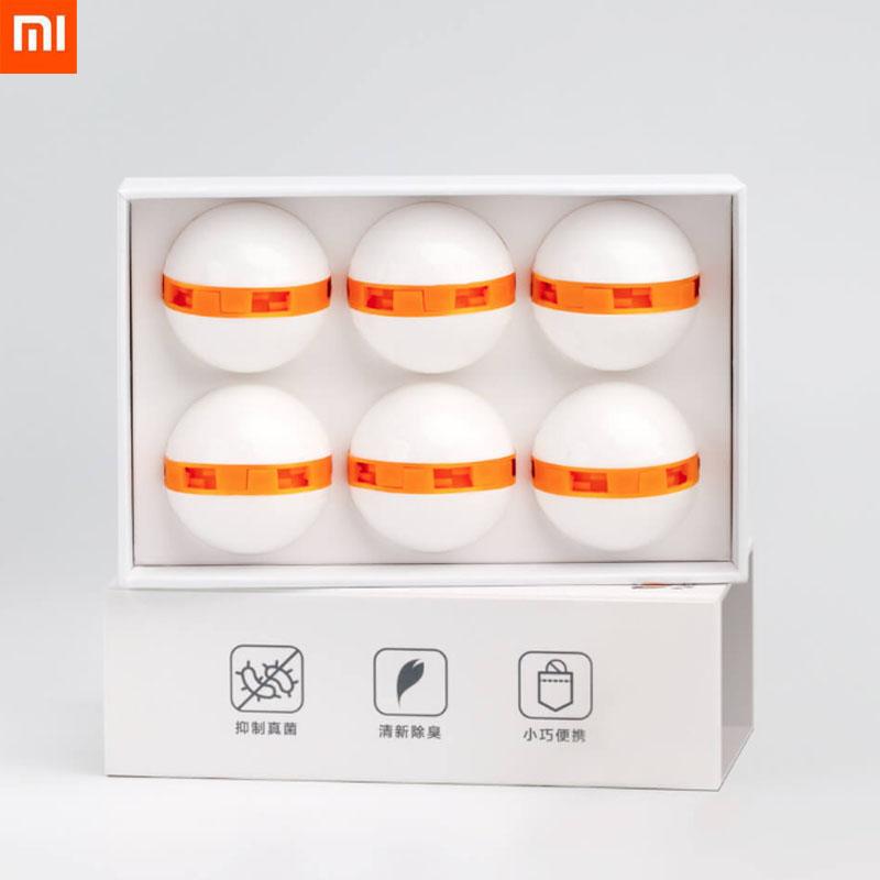 Original Xiaomi Mijia Clean n Fresh Shoes Deodorant Dry Deodorizer Air Purifying Switch Ball Shoes E Orange Xiaomi