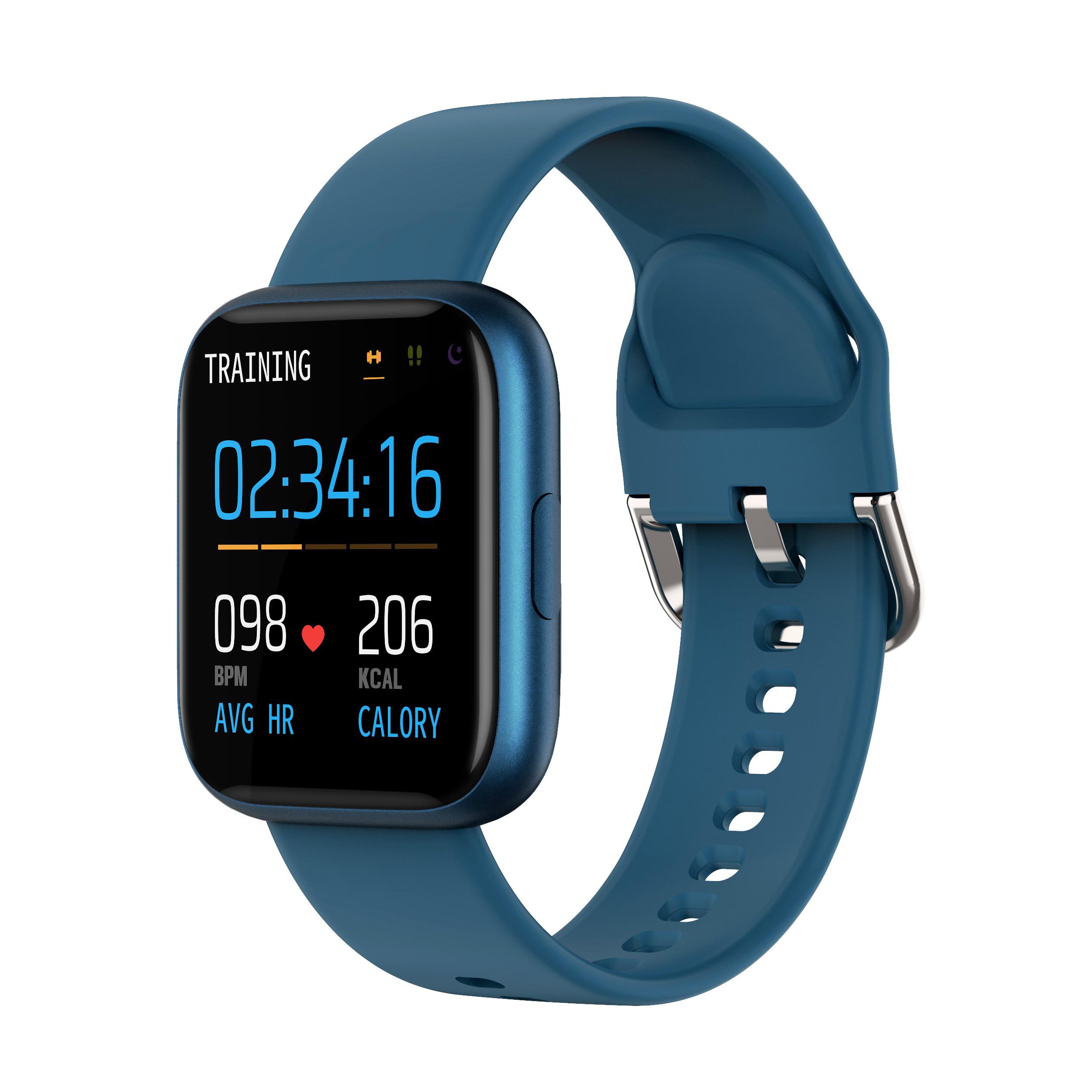 P6 Smart Bracelet Heart Rate Blood Pressure Health Waterproof Smart Watch Bluetooth Watch Wristband Fitness Tracker Blue
